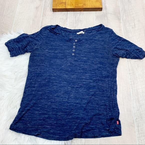 Levi's Tops - Levis Burnout Acid Wash Short Sleeve Shirt 3122